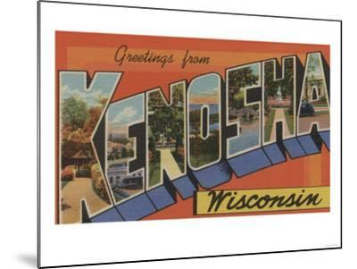 Kenosha, Wisconsin - Large Letter Scenes-Lantern Press-Mounted Art Print