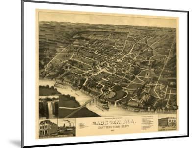 Gadsden, Alabama - Panoramic Map-Lantern Press-Mounted Art Print