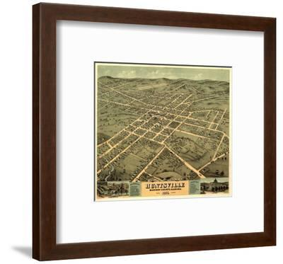 Huntsville, Alabama - Panoramic Map-Lantern Press-Framed Art Print