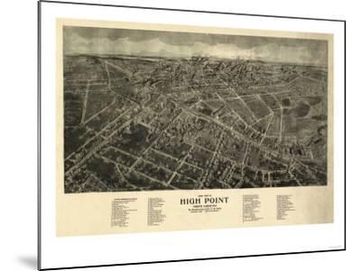 High Point, North Carolina - Panoramic Map-Lantern Press-Mounted Art Print