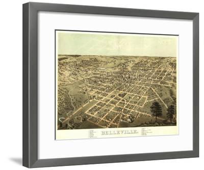 Belleville, Illinois - Panoramic Map-Lantern Press-Framed Art Print