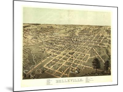 Belleville, Illinois - Panoramic Map-Lantern Press-Mounted Art Print