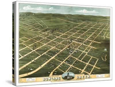 Bowling Green, Kentucky - Panoramic Map-Lantern Press-Stretched Canvas Print