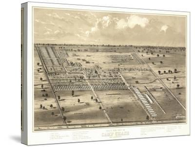 Camp Chase, Ohio - Panoramic Map-Lantern Press-Stretched Canvas Print