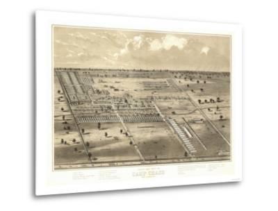 Camp Chase, Ohio - Panoramic Map-Lantern Press-Metal Print