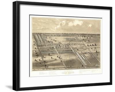 Camp Chase, Ohio - Panoramic Map-Lantern Press-Framed Art Print