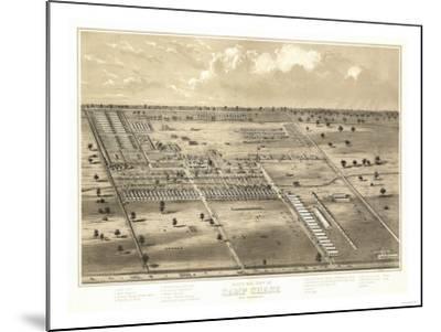 Camp Chase, Ohio - Panoramic Map-Lantern Press-Mounted Art Print