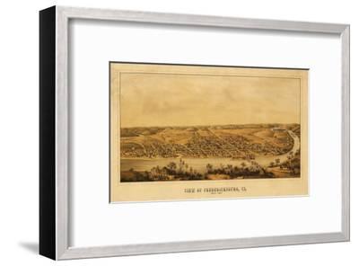 Fredericksburg, Virginia - Panoramic Map-Lantern Press-Framed Art Print