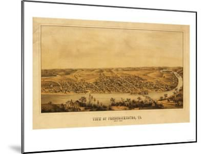 Fredericksburg, Virginia - Panoramic Map-Lantern Press-Mounted Art Print