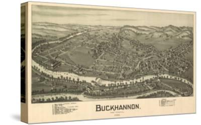 Buckhannon, West Virginia - Panoramic Map-Lantern Press-Stretched Canvas Print