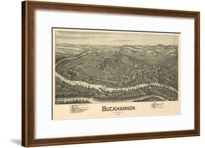 Buckhannon, West Virginia - Panoramic Map-Lantern Press-Framed Art Print