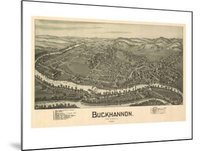Buckhannon, West Virginia - Panoramic Map-Lantern Press-Mounted Art Print