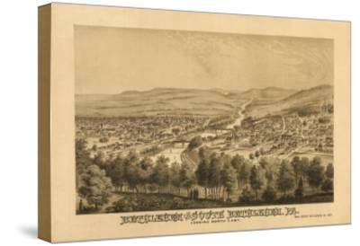 Bethlehem, Pennsylvania - Panoramic Map-Lantern Press-Stretched Canvas Print