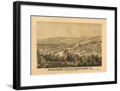 Bethlehem, Pennsylvania - Panoramic Map-Lantern Press-Framed Art Print