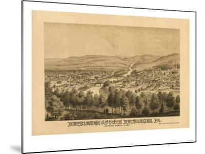 Bethlehem, Pennsylvania - Panoramic Map-Lantern Press-Mounted Art Print