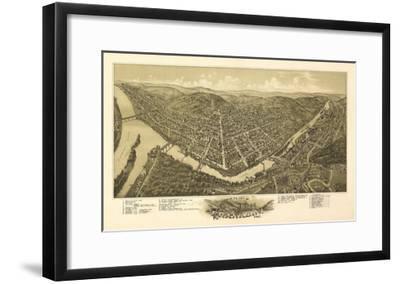 Franklin, Pennsylvania - Panoramic Map-Lantern Press-Framed Art Print