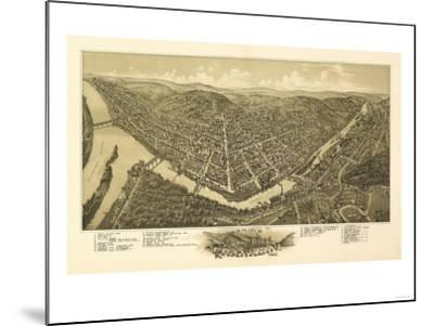 Franklin, Pennsylvania - Panoramic Map-Lantern Press-Mounted Art Print
