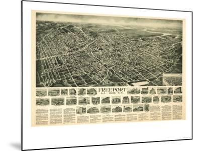 Freeport, New York - Panoramic Map-Lantern Press-Mounted Art Print