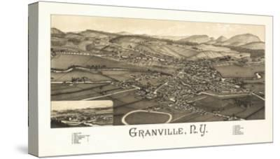 Granville, New York - Panoramic Map-Lantern Press-Stretched Canvas Print