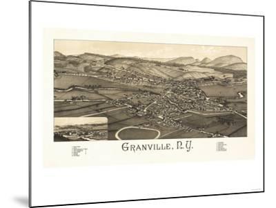 Granville, New York - Panoramic Map-Lantern Press-Mounted Art Print