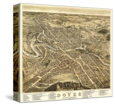 Dover, New Hampshire - Panoramic Map-Lantern Press-Stretched Canvas Print