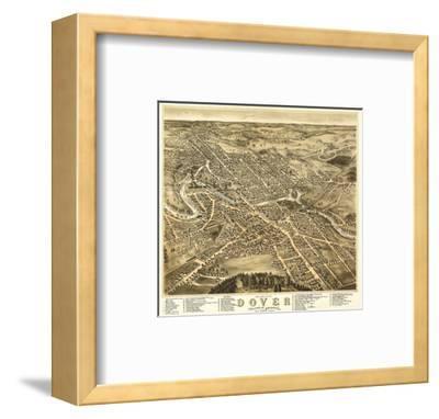 Dover, New Hampshire - Panoramic Map-Lantern Press-Framed Art Print
