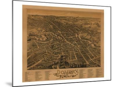 Dover, New Hampshire - Panoramic Map-Lantern Press-Mounted Art Print