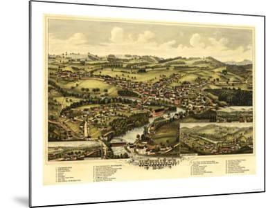 Henniker, New Hampshire - Panoramic Map-Lantern Press-Mounted Art Print