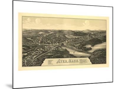 Ayer, Massachusetts - Panoramic Map-Lantern Press-Mounted Art Print