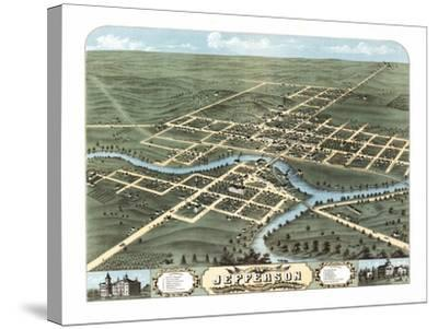 Jefferson, Wisconsin - Panoramic Map-Lantern Press-Stretched Canvas Print