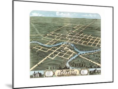 Jefferson, Wisconsin - Panoramic Map-Lantern Press-Mounted Art Print
