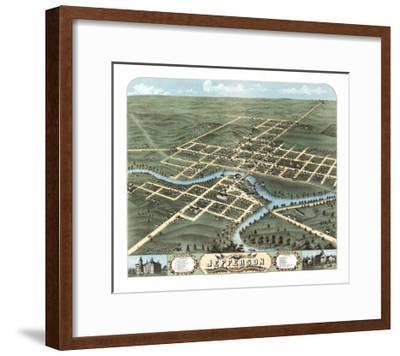 Jefferson, Wisconsin - Panoramic Map-Lantern Press-Framed Art Print