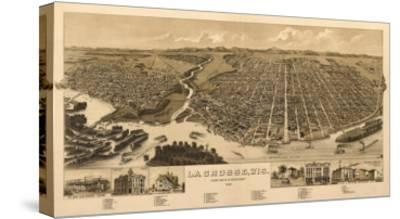 La Crosse, Wisconsin - Panoramic Map-Lantern Press-Stretched Canvas Print