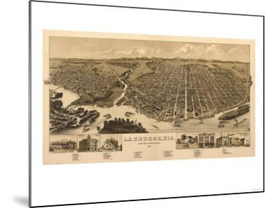 La Crosse, Wisconsin - Panoramic Map-Lantern Press-Mounted Art Print