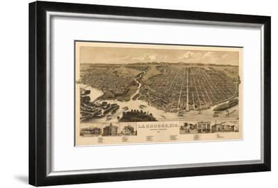 La Crosse, Wisconsin - Panoramic Map-Lantern Press-Framed Art Print