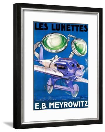 France - E.B. Meyrowitz Flying Goggles Advertisement Poster-Lantern Press-Framed Art Print