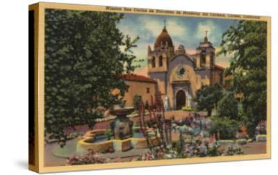 Carmel, CA - Mission San Carlos de Borromeo de Monterey-Lantern Press-Stretched Canvas Print