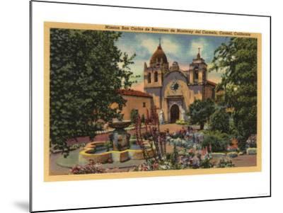 Carmel, CA - Mission San Carlos de Borromeo de Monterey-Lantern Press-Mounted Art Print