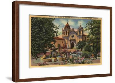 Carmel, CA - Mission San Carlos de Borromeo de Monterey-Lantern Press-Framed Art Print