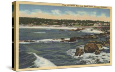 Carmel, California - View of Carmel Bay from Scenic Drive-Lantern Press-Stretched Canvas Print