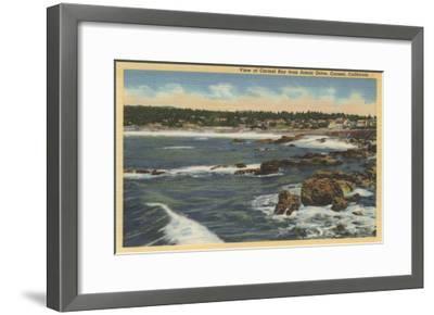 Carmel, California - View of Carmel Bay from Scenic Drive-Lantern Press-Framed Art Print