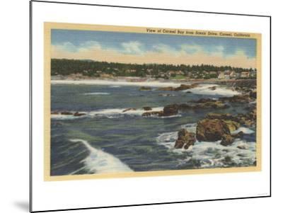 Carmel, California - View of Carmel Bay from Scenic Drive-Lantern Press-Mounted Art Print