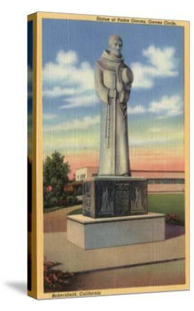 Bakersfield, California - Statue of Padre Garces in Garces Circle-Lantern Press-Stretched Canvas Print