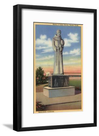 Bakersfield, California - Statue of Padre Garces in Garces Circle-Lantern Press-Framed Art Print