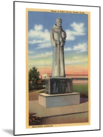 Bakersfield, California - Statue of Padre Garces in Garces Circle-Lantern Press-Mounted Art Print