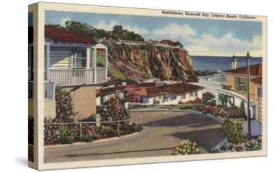 Laguna Beach, California - View of Emerald Bay & Residences-Lantern Press-Stretched Canvas Print