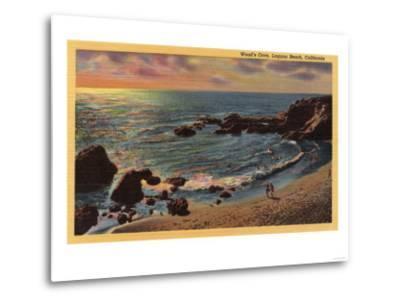 Laguna Beach, California - View of Wood's Cove-Lantern Press-Metal Print