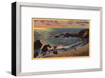 Laguna Beach, California - View of Wood's Cove-Lantern Press-Framed Art Print