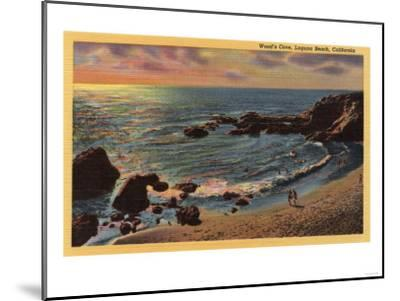 Laguna Beach, California - View of Wood's Cove-Lantern Press-Mounted Art Print