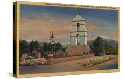 Redlands, California - Mission San Bernardino Asistencia-Lantern Press-Stretched Canvas Print